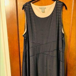 NAVY EUC FULLY LINED 2X DRESS